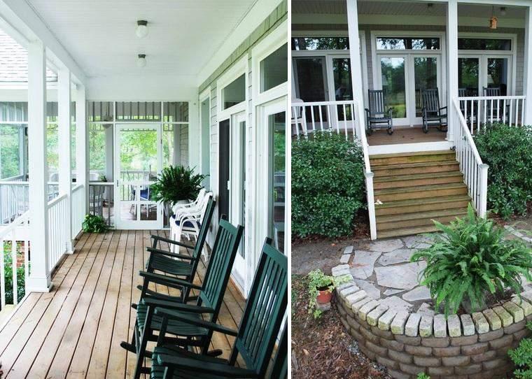 diseños porches para terrazas