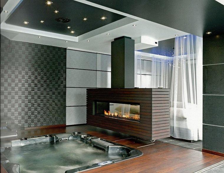 decoracion chimeneas modernas para decorar y calentar On chimeneas revestidas