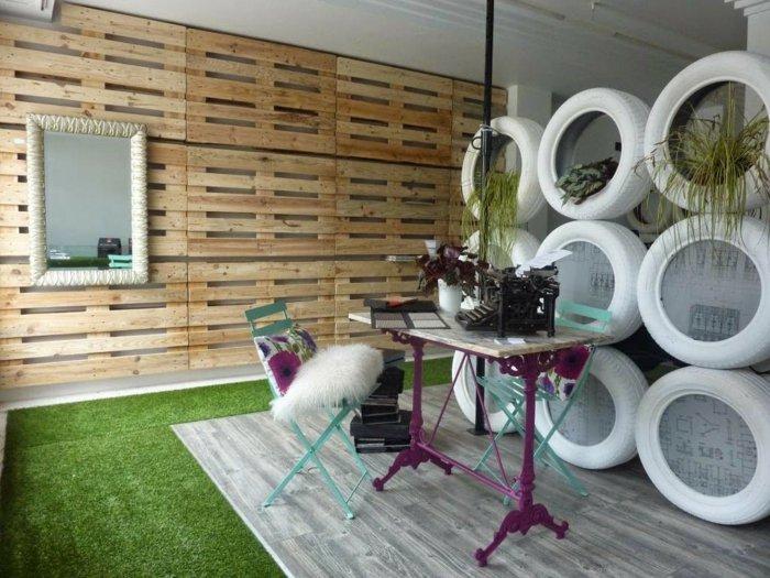 Palet de madera para decorar su hogar 100 ideas for Decoracion con palets de madera