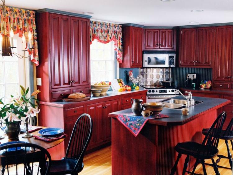 rojos diferente variaciones diseños cortinas