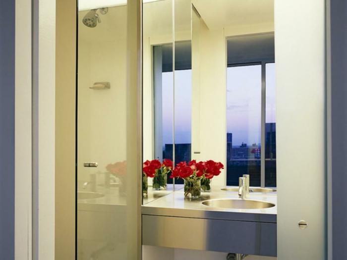 rosas frescas flores metales ducha