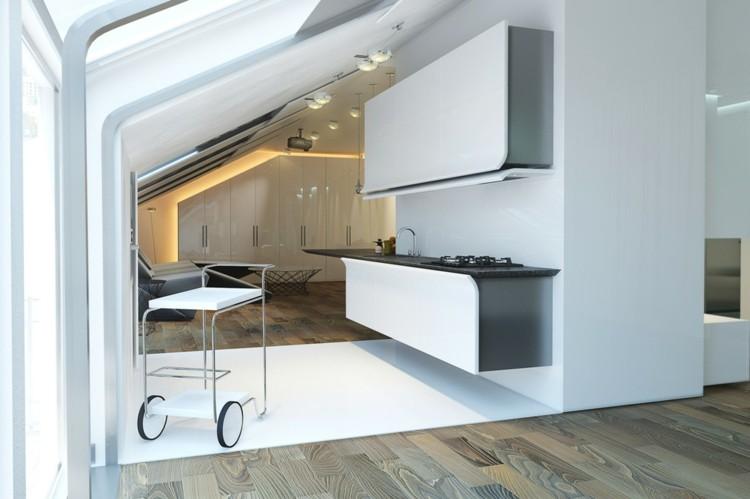 ruedas casas variables futurista blanco led