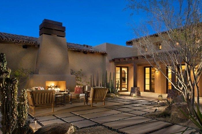 rustica diseño casas salones colores ramas