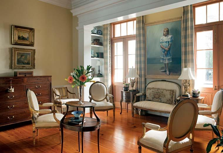 sala estar muebles coloniales