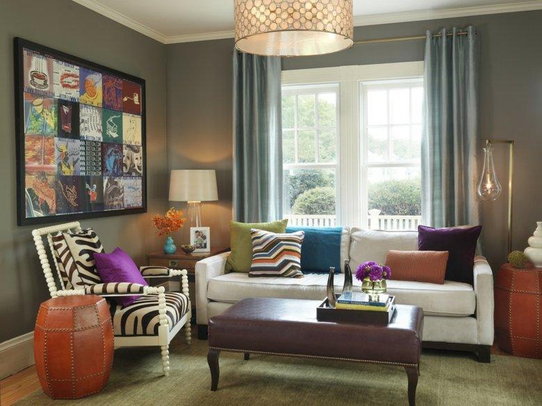 Cortinas de sala y comedor - colores y estampados