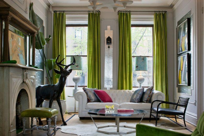cortinas de sala y comedor cortinas verdes