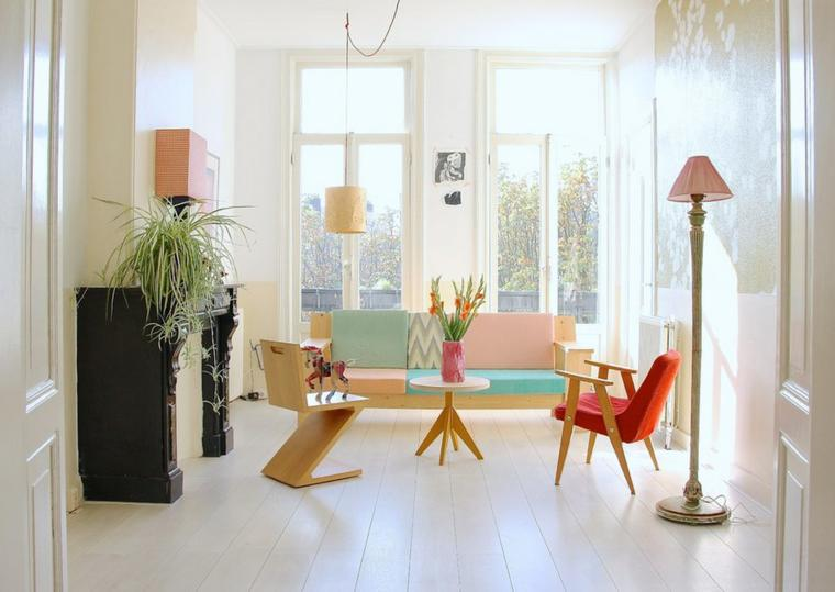 sala de estar moderna plantas