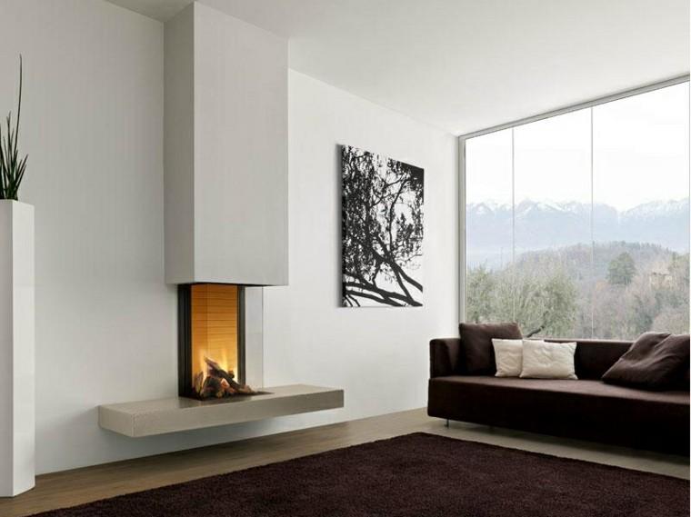 salon chimenea sofa cuadro bonito ideas