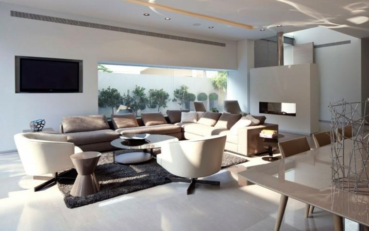 Chimeneas modernas ideas para salones modernos - Decoracion de chimeneas en salones ...