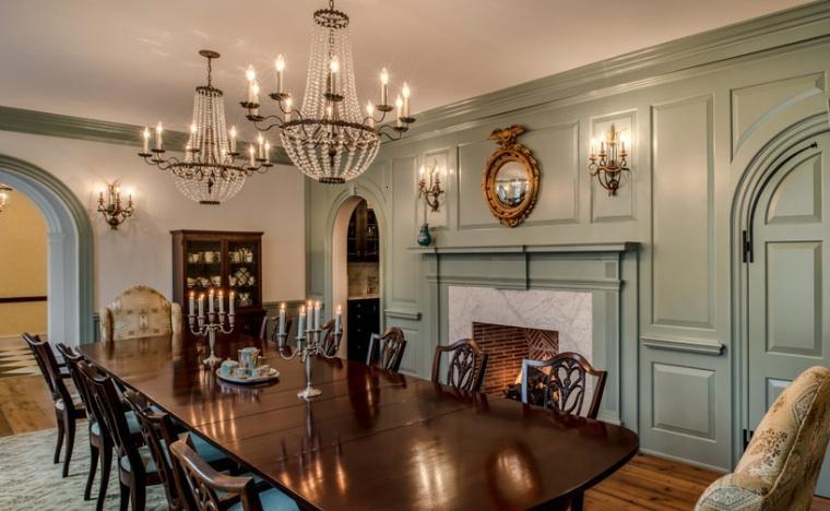 Muebles estilo colonial interiores elegantes con madera - Salon comedor con estilo ...