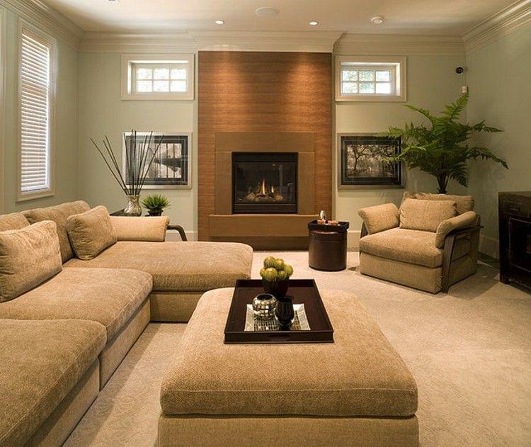 Salon con chimenea creando ambientes elegantes - Decoracion chimeneas salon ...