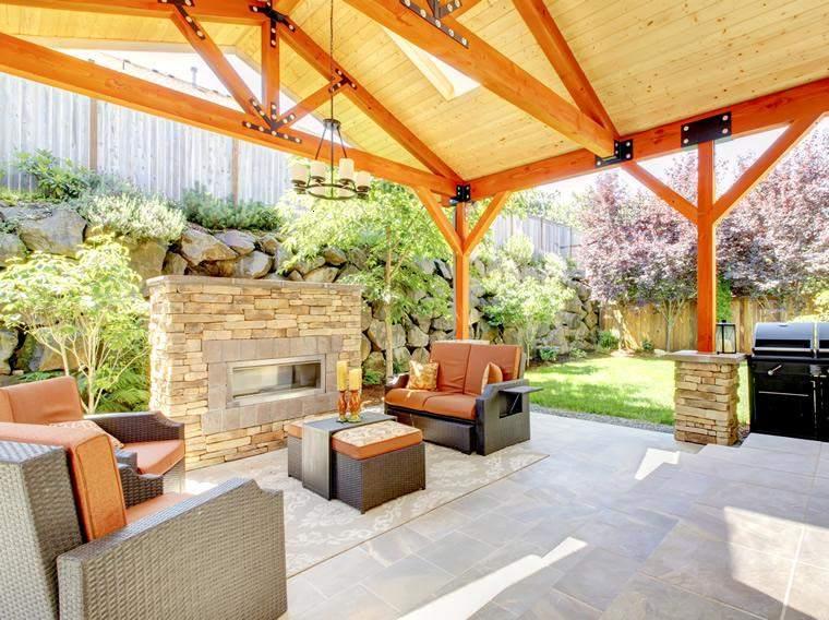 Terrazas cubiertas decoracion y diseño - 48 ideas