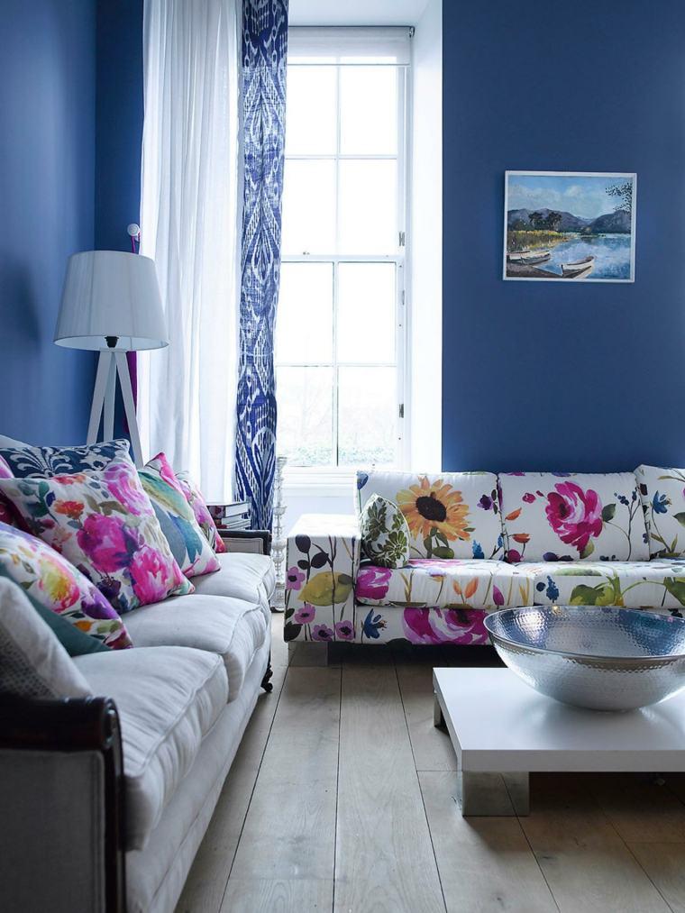 salones decorados modernos contemporaneo estampas flores ideas