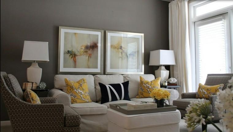 salones decorados modernos cuadros lamparas ideas - Imagenes De Salones Decorados