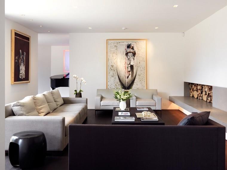 salones decorados modernos cuadros plantas elegante ideas