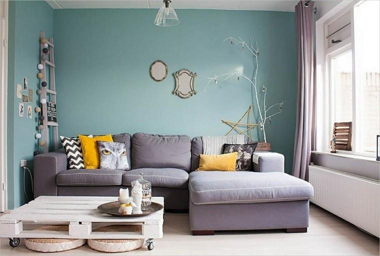 salon decorado modernos mesa palets ideas