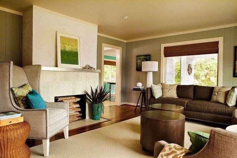 salon decorado modernos mesa redondas cuadro ideas