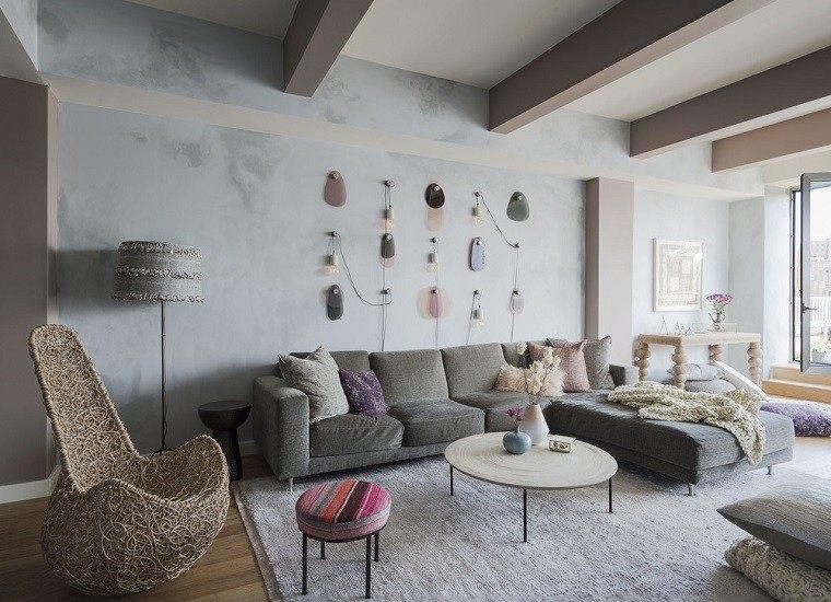 salon decorado modernos sillone mimbre ideas