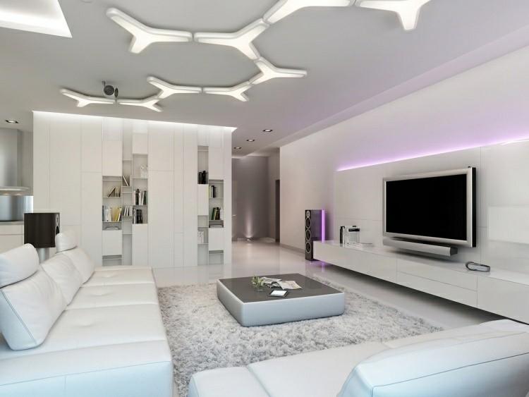 salones led decorado plantas modernos television