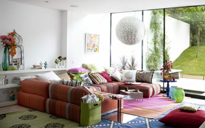 salones pequeños ideas informal jarrones sofa