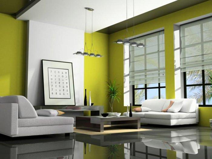 salones pequeños ideas soluciones contemporaneo amarillo