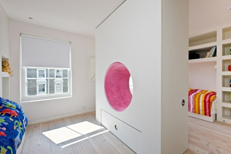 separadores de ambientes circular plantas rosa