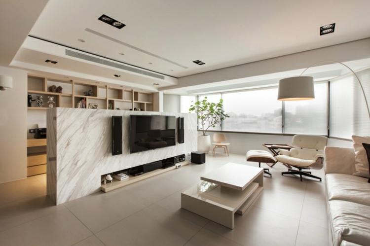 separadores de ambientes plantas marmol maderas