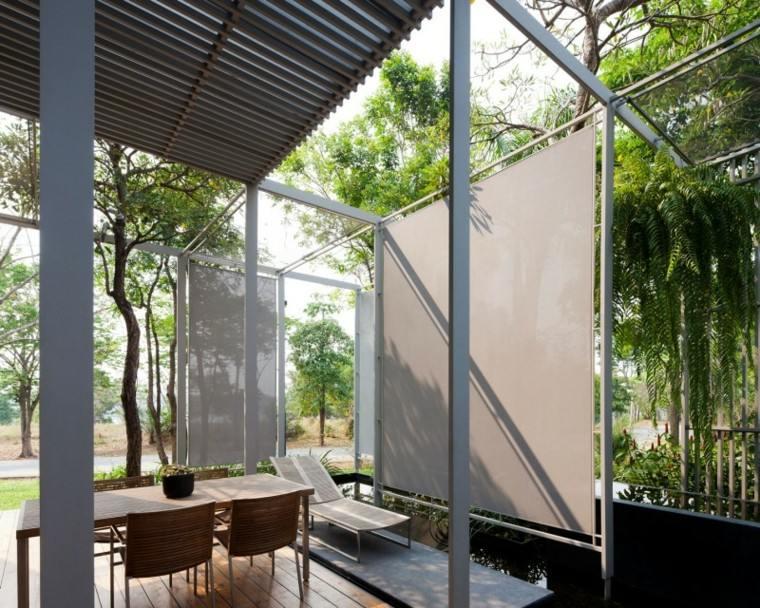 sillas mesa comidas tumbona jardin ideas