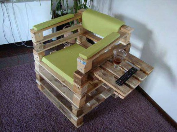 original sillón mesilla lateral