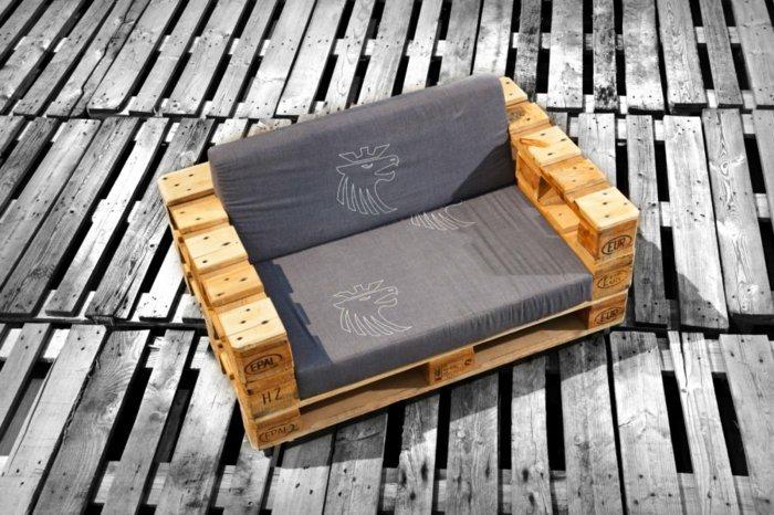 original sillón acolchado gris