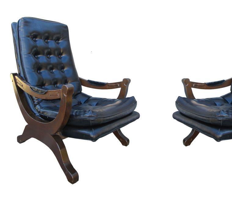 muebles estilo colonial sillones azules estilo colonial