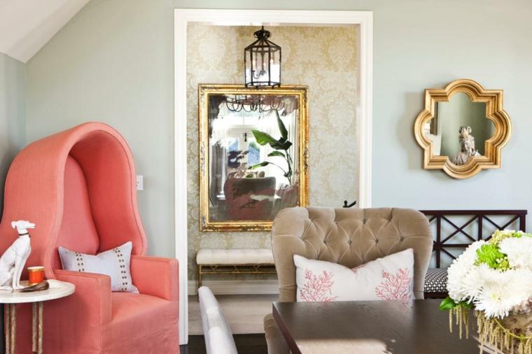 sillones diseños espacios blanco azules