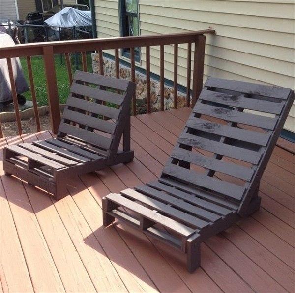 sillas terraza pintadas madera