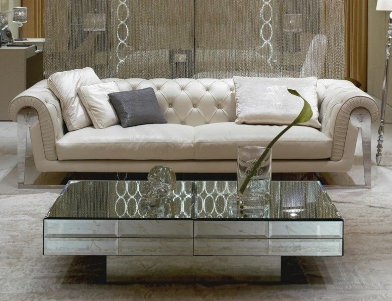 sofa Chester capitone color beige