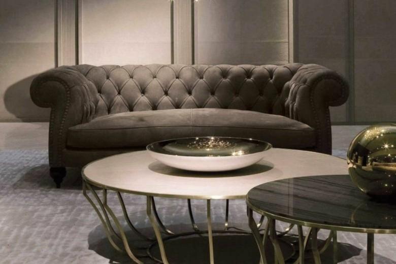 sofá Chester moderno marrón