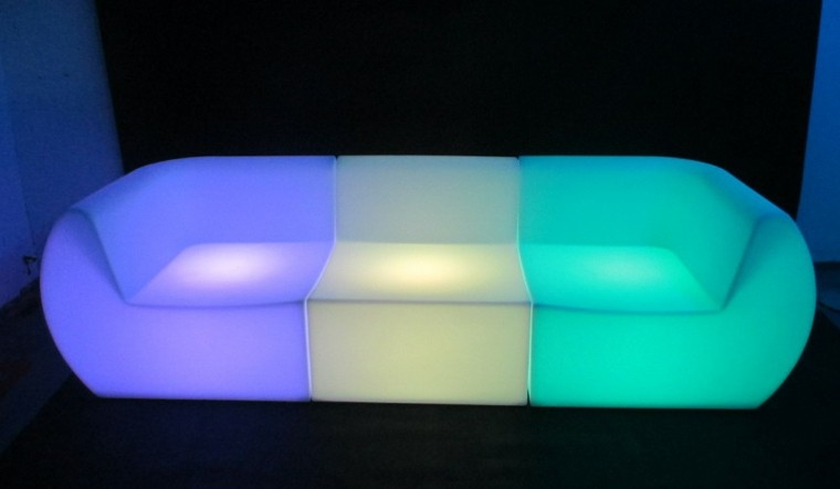 sofa colores deco luces led