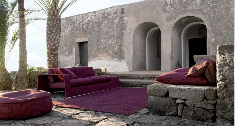 sofa exterior color purpura precioso ideas