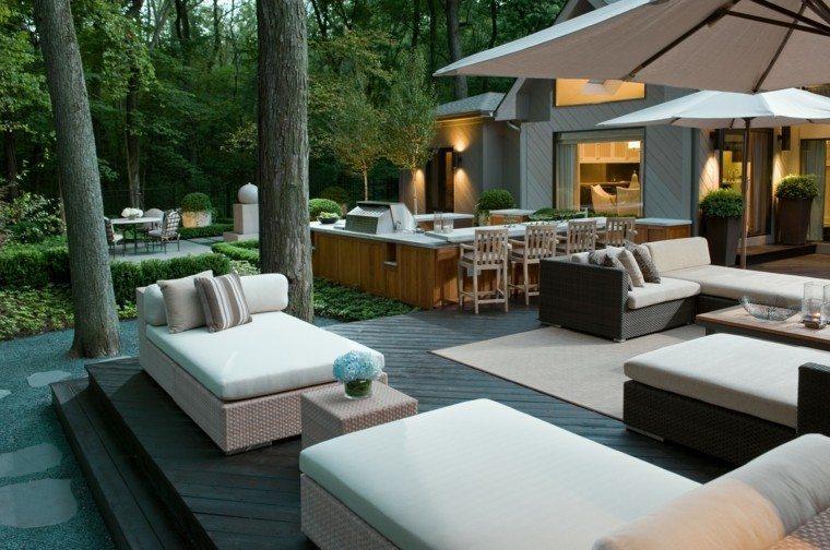 sofas exterior rattan mesita opciones modernas ideas