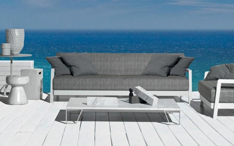 sofa gris aire libre preciosa ideas