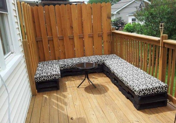 banco terraza color negro