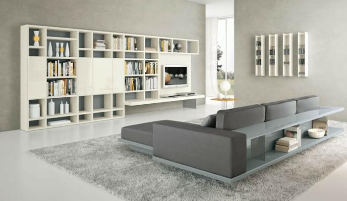soluciones grises espacios estantes blanco