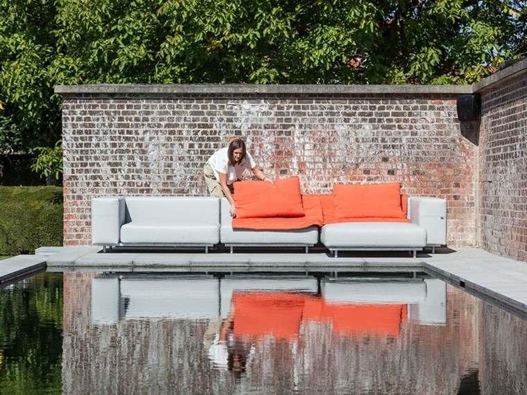sofa diseno exteriosres jardin piscina ideas