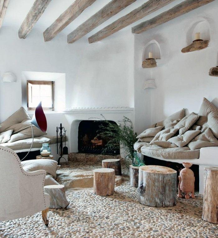 suelo diseño casas salones troncos ambiente
