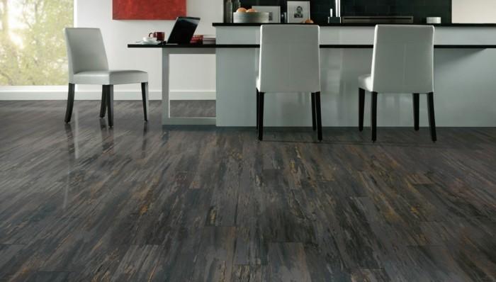suelo laminado madera color gris
