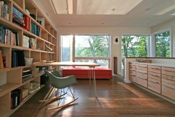 suelo laminado madera silla balancín