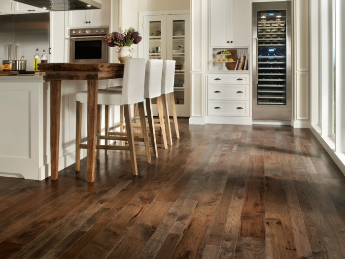 suelos cocina moderna madera laminada