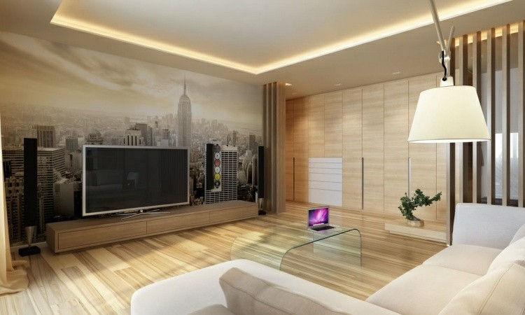 suelos madera casas lineas blanco calido
