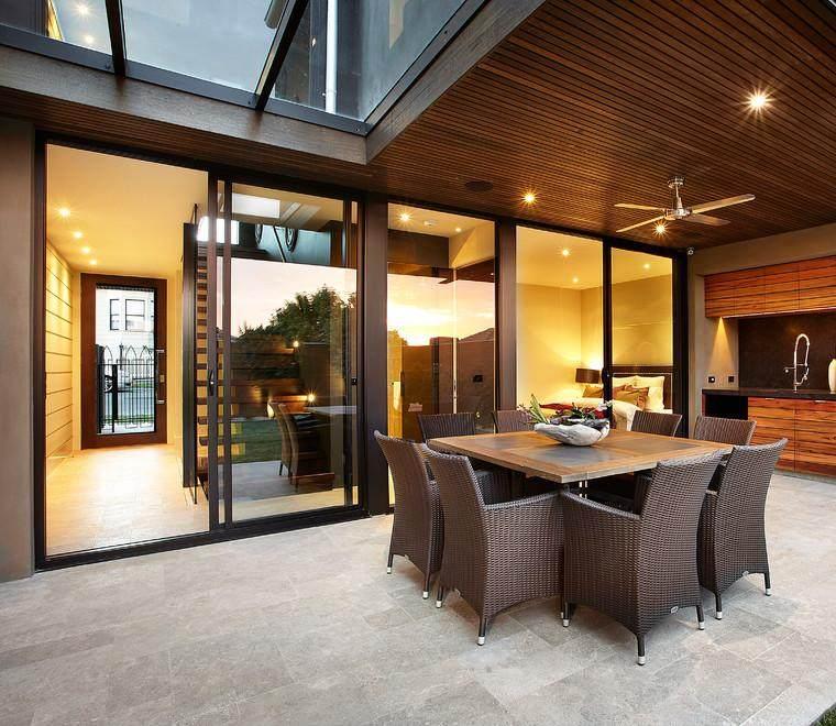 Terraza Vistas Preciosas Montana Mesa Banco Madera Ideas