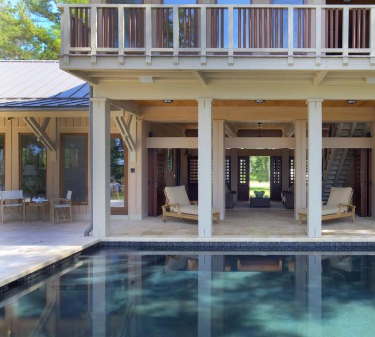 diseño terraza jardin piscina