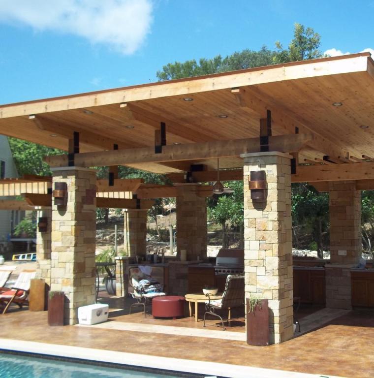 Terrazas cubiertas decoracion y dise o 48 ideas for Techos de teja para terrazas